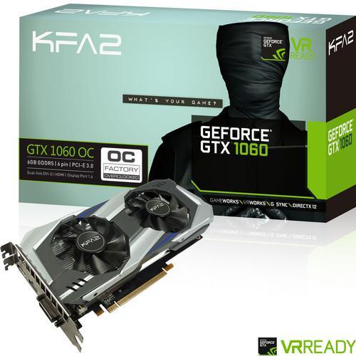 Carte graphique KFA2 GeForce GTX 1060 OC - 6 Go