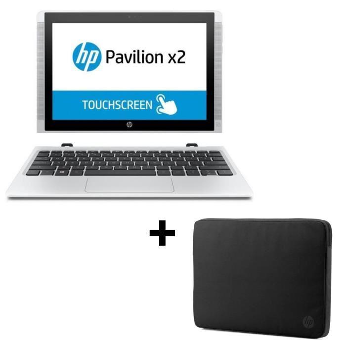 """PC Portable 10.1"""" HP Pavilion x2 - Intel Atom Z8300, 2Go de Ram + Housse (via ODR de 50€)"""