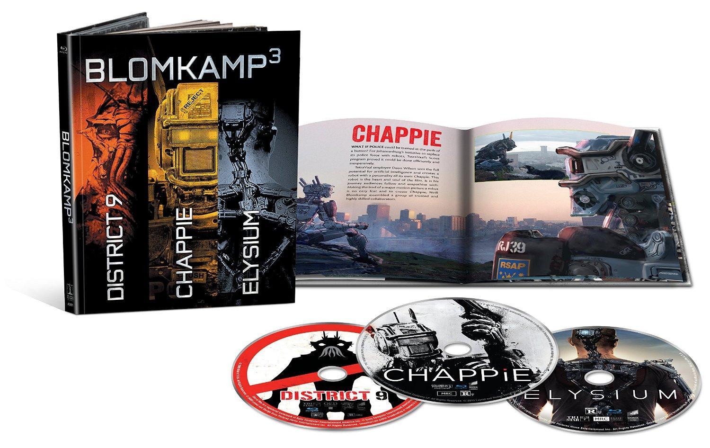 Coffret Blu-Ray Neill Blomkamp Edition limitée (Chappie / District 9 / Elysium) - Frais de douane et de livraison inclus