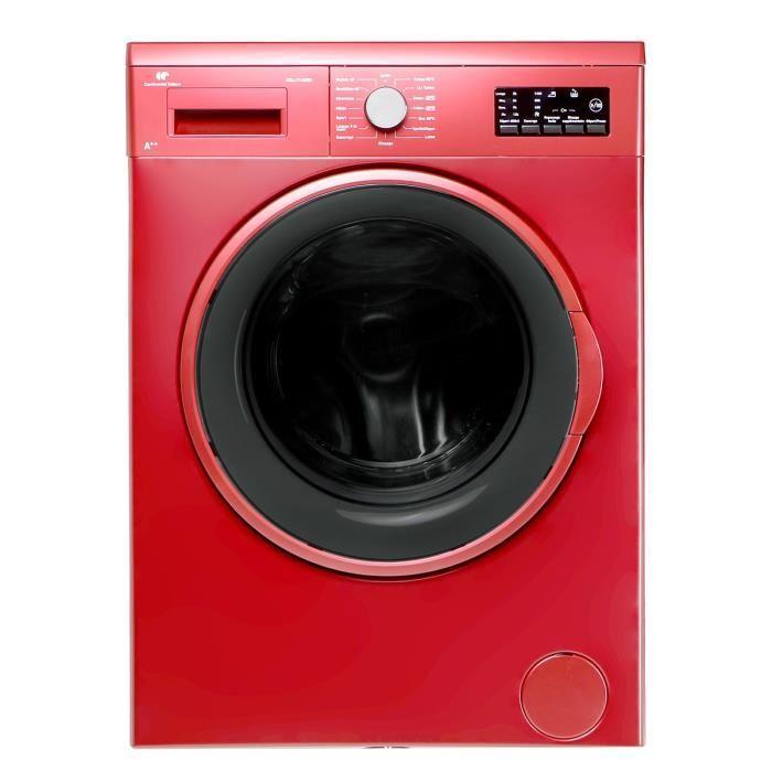 Lave-linge Continental Edison Cell714 - rouge (+ 24€ en bon d'achat)