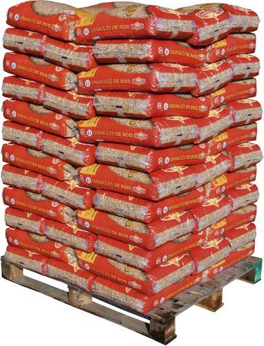 Palette de 72 sacs de granulés de bois FLAMINO (15 kg) soit 1080kg