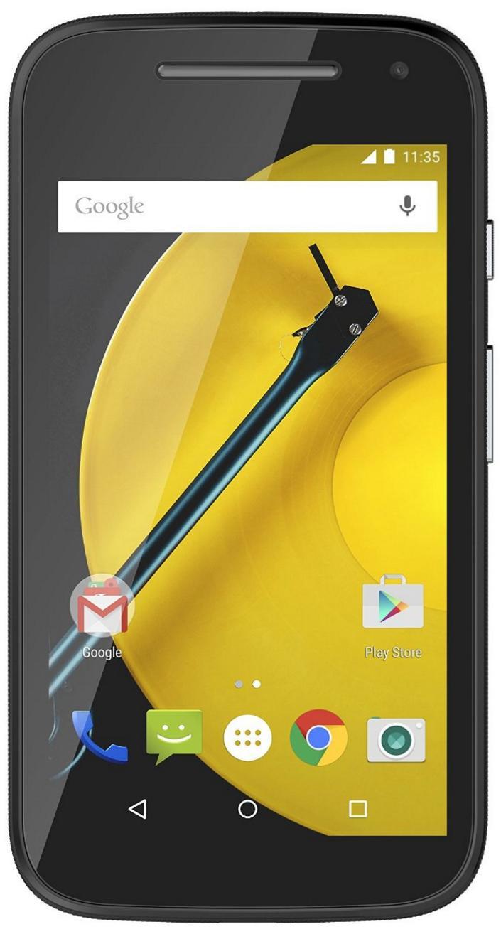"""Smartphone 4.5"""" Motorola Moto E 4G - 8Go, Noir"""