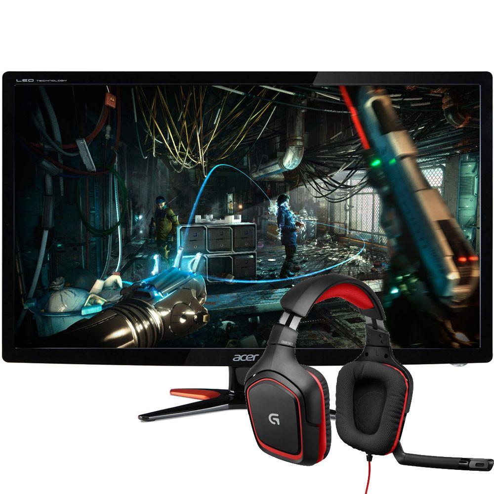 "Casque Logitech G230 ou G430 offert sur une sélection d'écran Gamer Acer - Ex : Ecran PC 27"" Acer GN276HLbid FreeSync + Logitech G230"