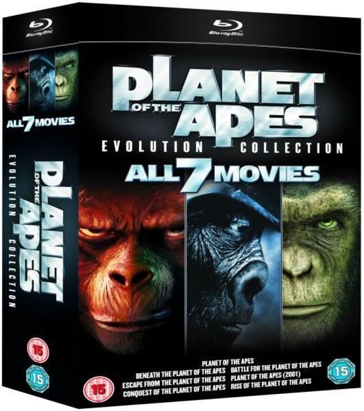 Sélection de Blu-ray en promotion - Ex : Coffret Blu-Ray La Planète Des Singes (7 films - VO uniquement sur les 5 premiers)