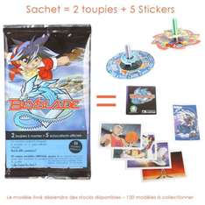Beyblade - Sachet de 2 mini toupies + 5 stickers