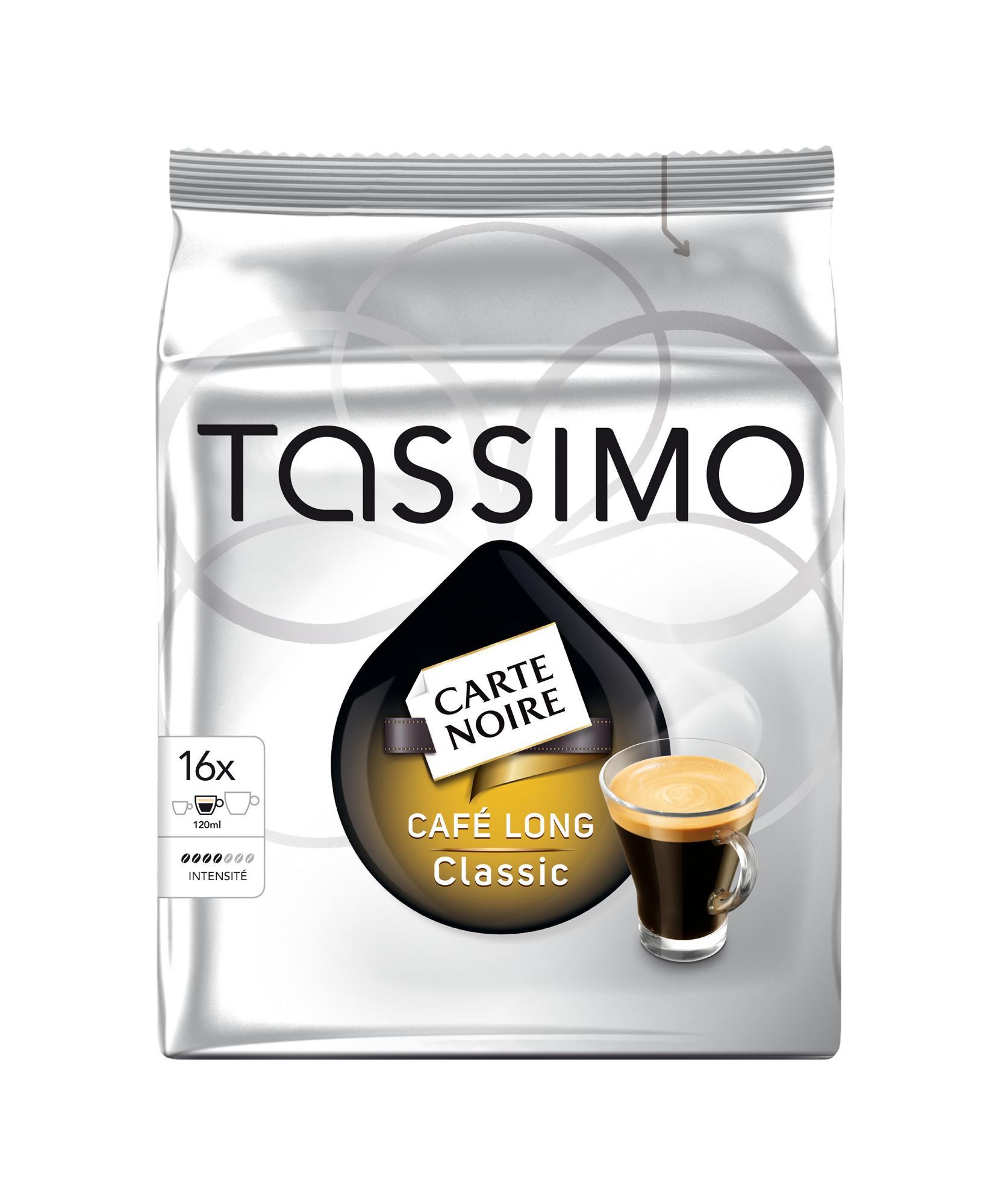 6 Paquets de 16 Dosettes de café Carte Noire Tassimo