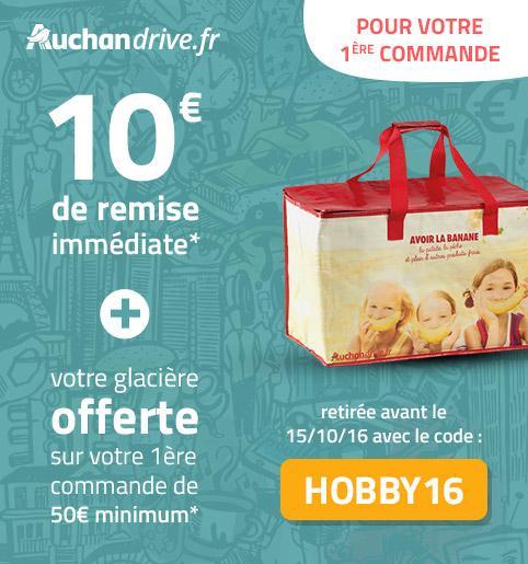 [Nouveaux Clients] 10€ de réduction immédiate dès 50€ d'achats + Glacière offerte