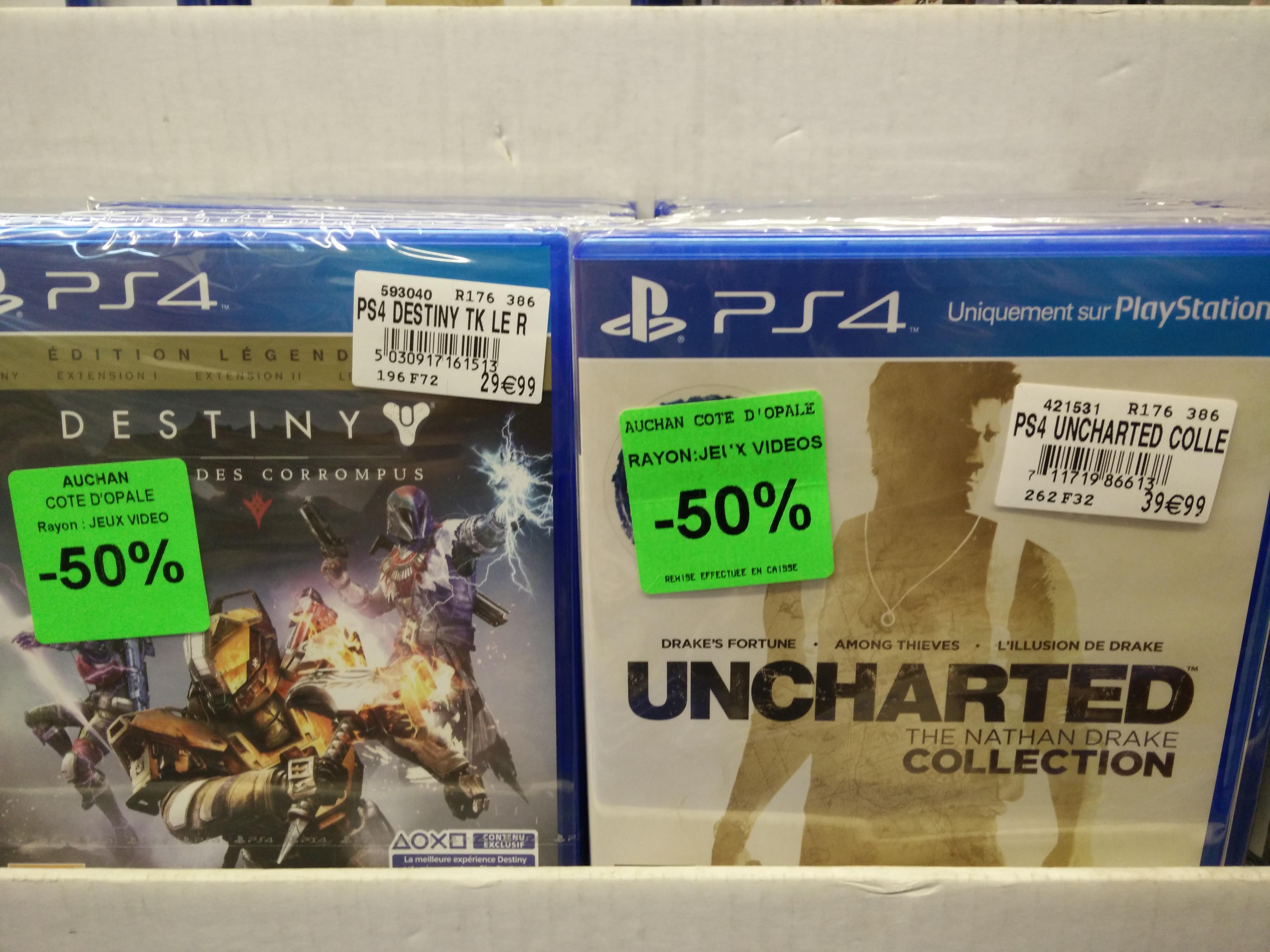 Sélection de jeux vidéo en promotion - Ex : Uncharted The Nathan Drake Collection