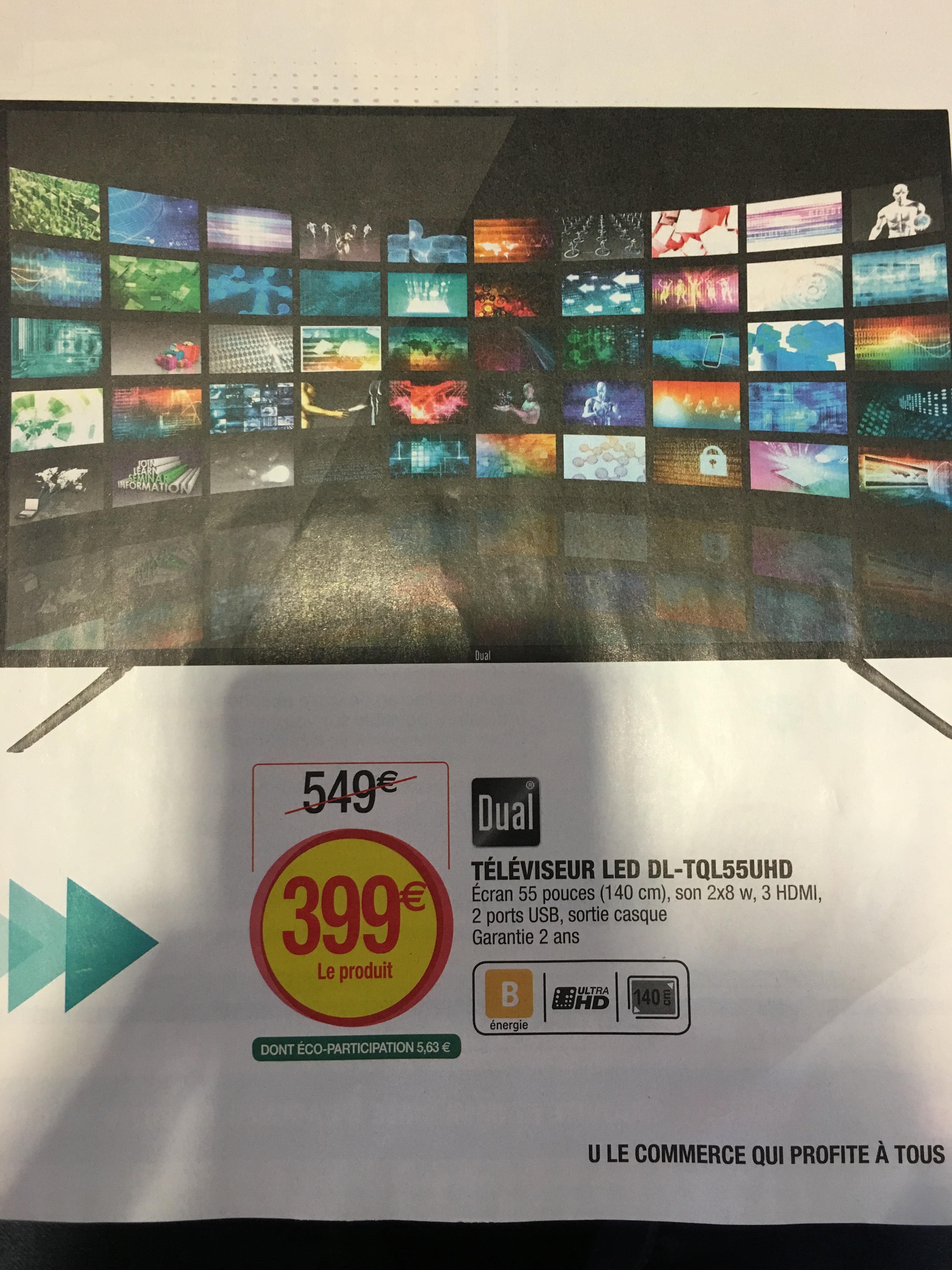 "TV 55"" DL-TQL55UHD UHD, LED"