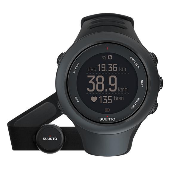 Montre GPS multisport Ambit3 Sport HR - Noir