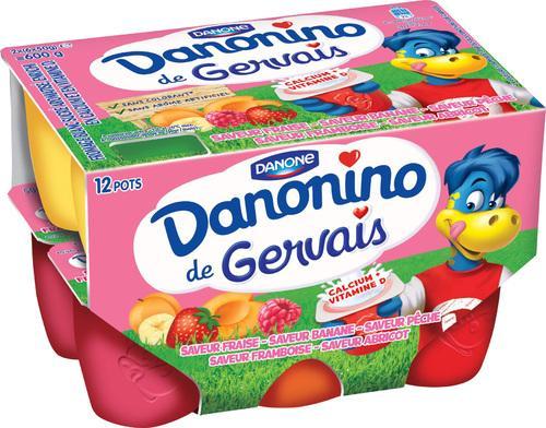 2 packs de 12 yaourts Danonino de Gervais - (via BDR)