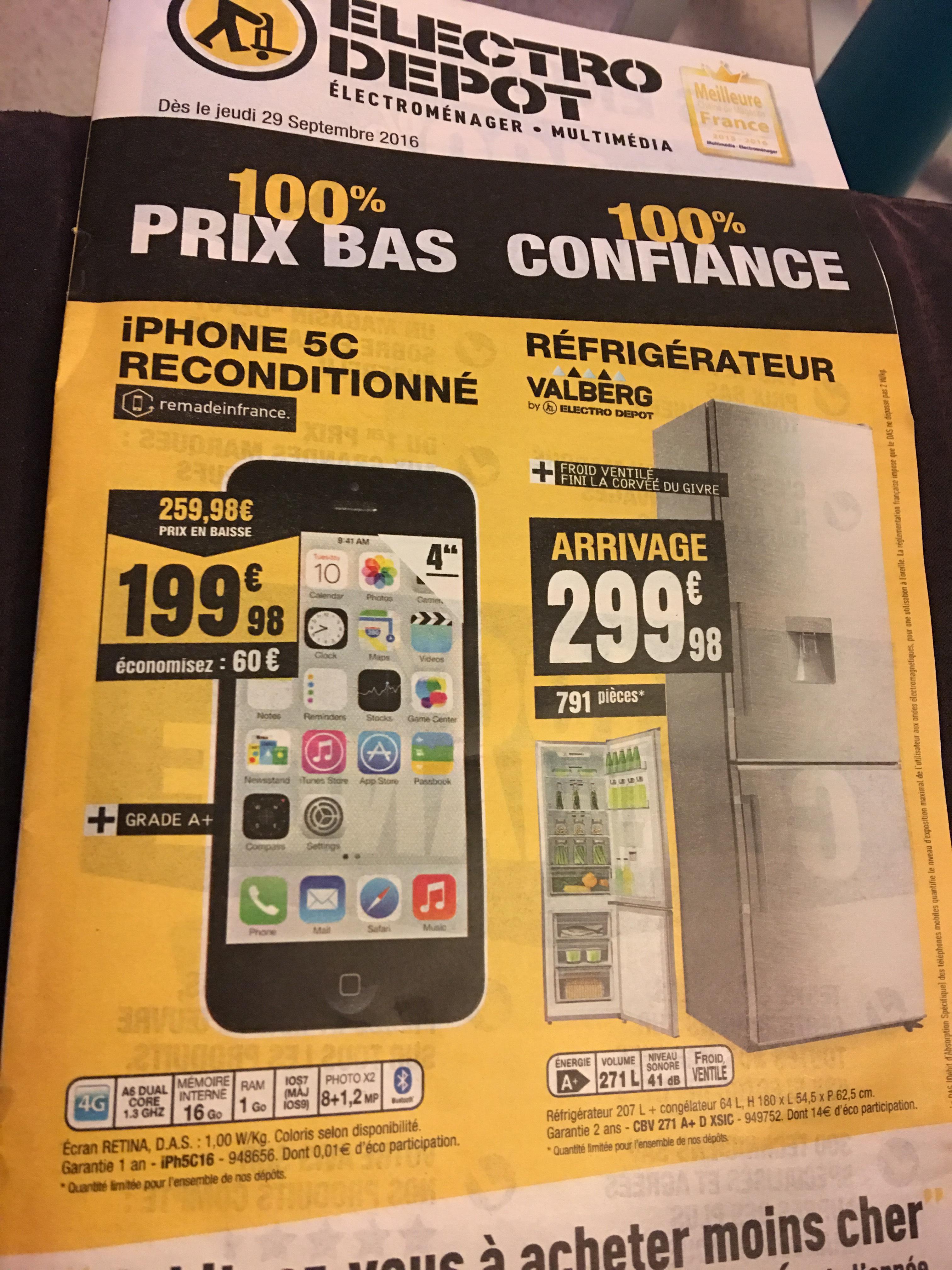 "Smartphone 4"" Apple Iphone 5C - 16Go, Reconditionné"