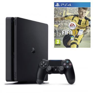 Console PS4 Slim 1To + Jeu FIFA 17 (Précommande) + bon d'achat de 15€ sur les jeux EA