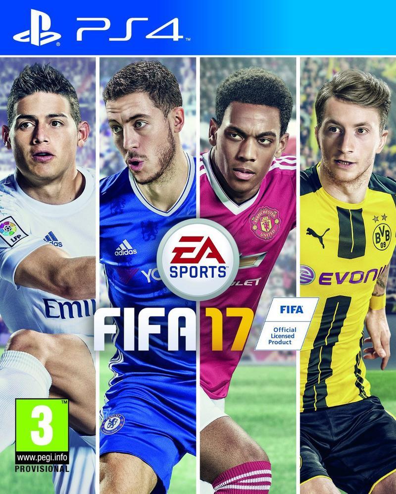 FIFA 17 sur PS4 (pour la reprise de FIFA 16)
