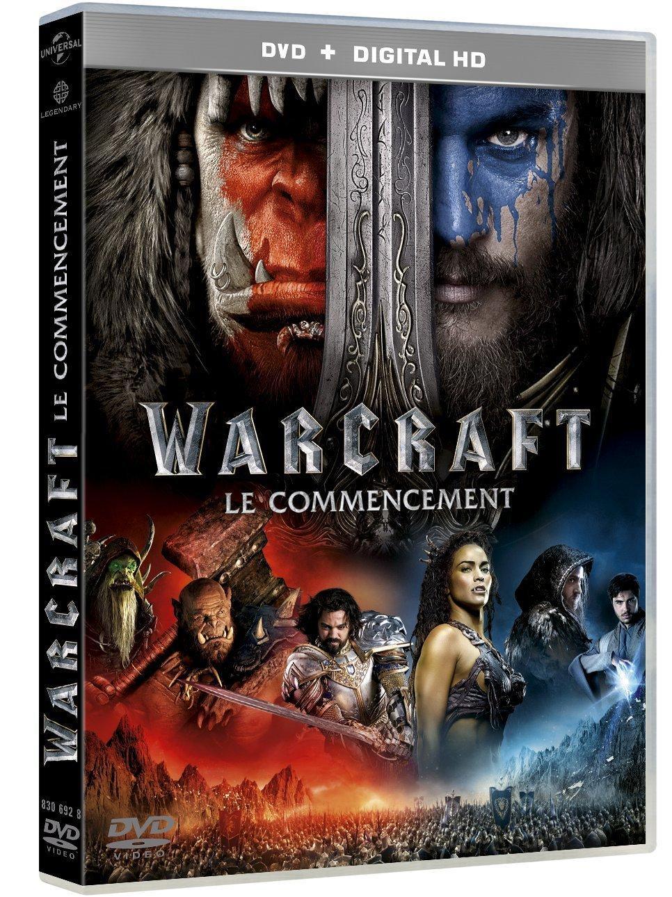 DVD+copie digital HD Warcraft Le Commencement sortie le 11/10