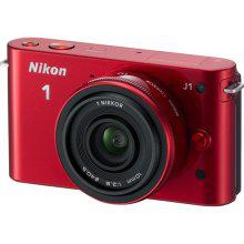 Appareil photo hybride Nikon 1 J1 Rouge + 10mm (avec ODR 50€)