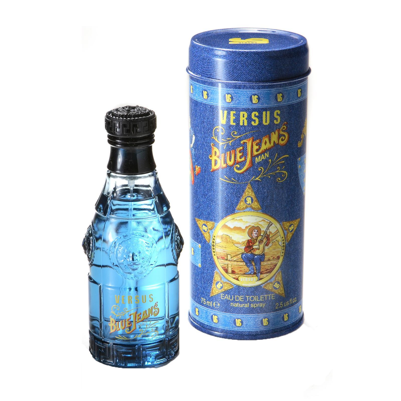 Eau De Toilette Spray Versace Blue Jeans 75ml + Coffret Versace Dylan Blue + Echantillon Versace Bright Crystal