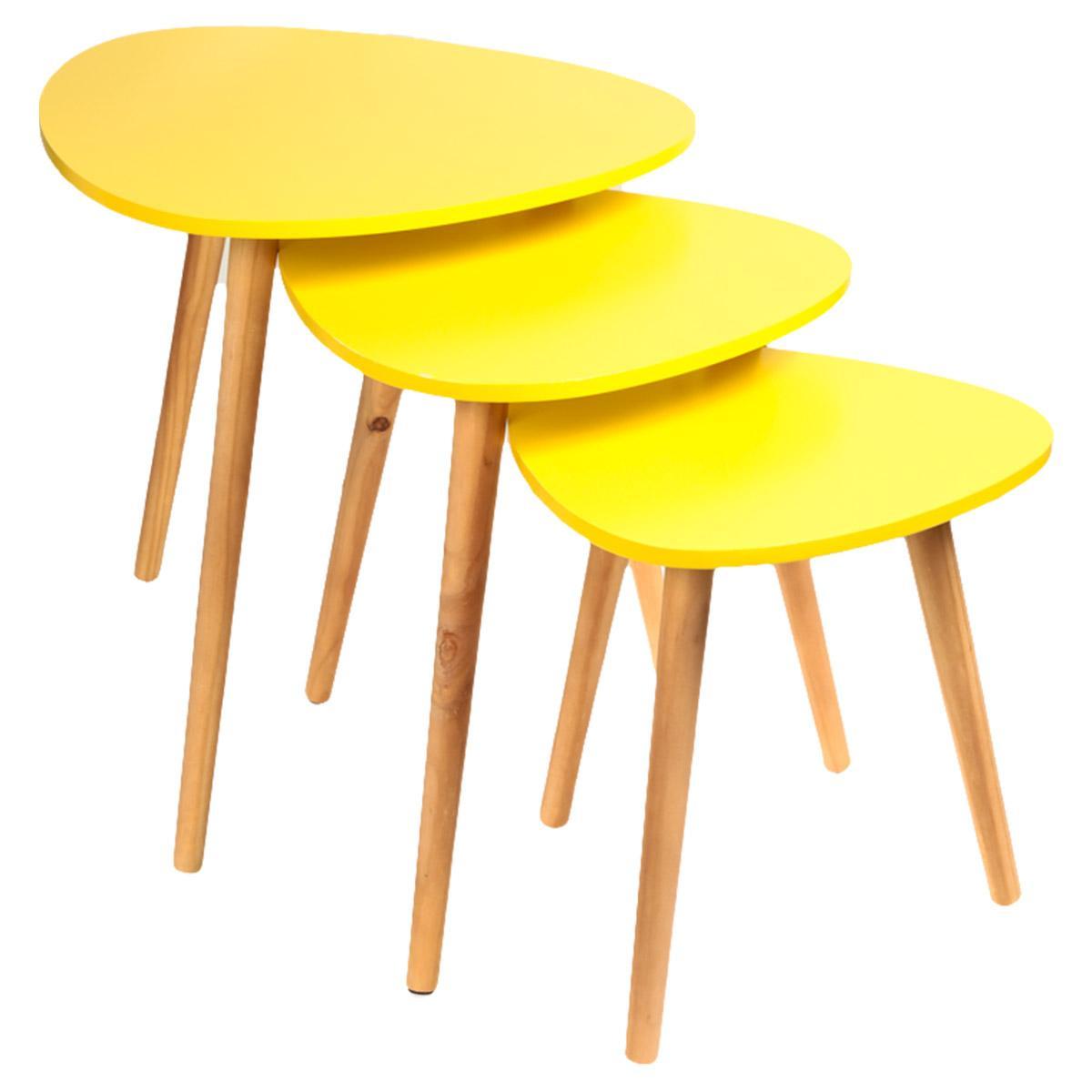 Sélection de produits en promotion - Ex : 3 Tables basses semi gigognes (plusieurs coloris)