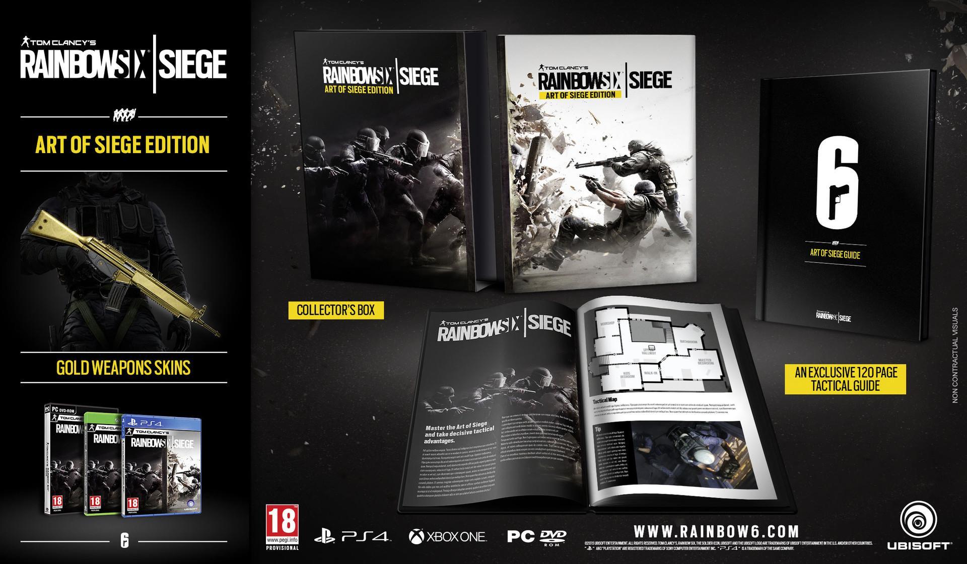 Tom Clancy's Rainbow Six Siege - Art Of Siege Edition sur PC ou PS4