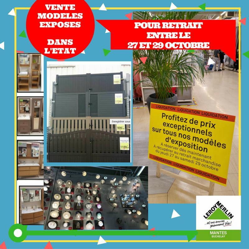 Liquidation totale du magasin - Ex : Portail en PVC