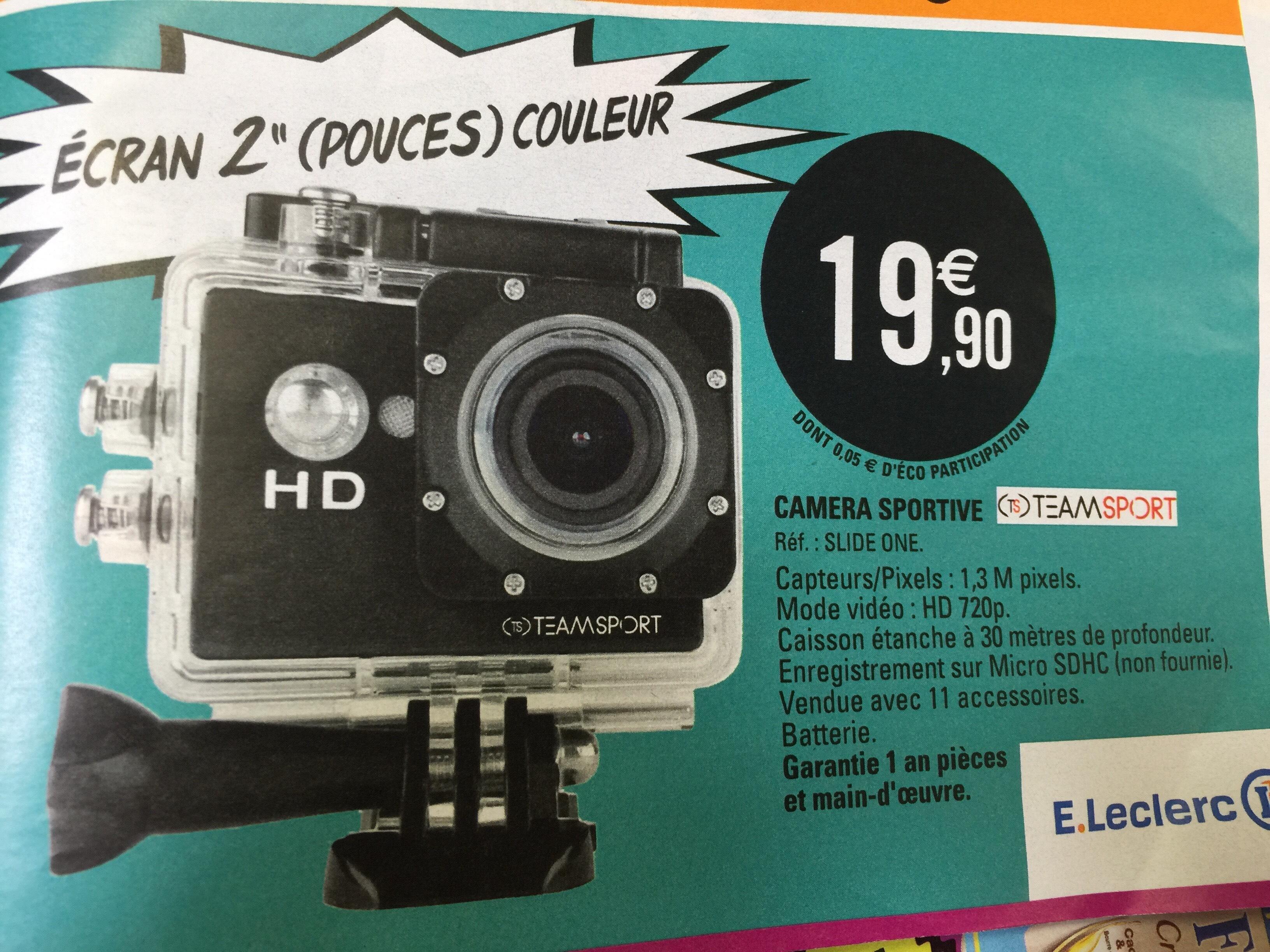 Camera Sportive TeamSport Slide One - HD