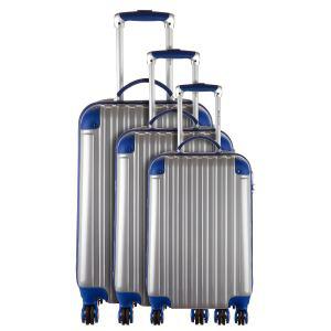 Set de 3 valises platinium 4 roues Evora