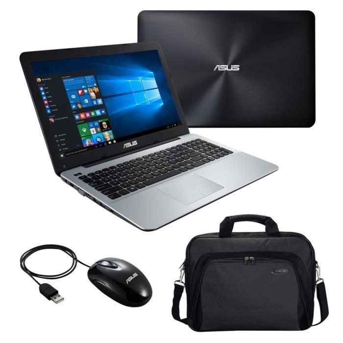 """PC portable 15.6"""" Asus X555LA-XX3000T - Intel i3-5005, 4 Go RAM, 500 Go + sacoche et souris USB"""