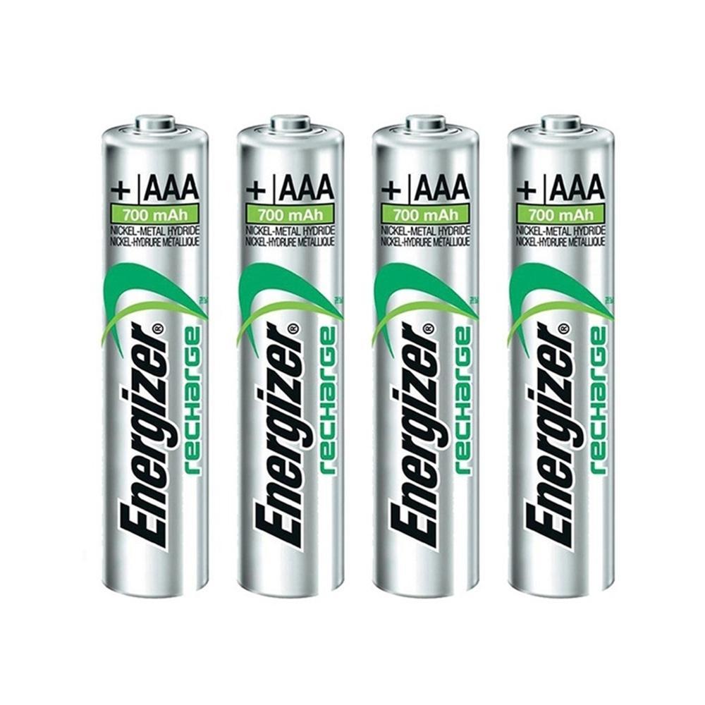 Pack de 4 piles rechargeables Energizer HR03 AAA 700 mAh