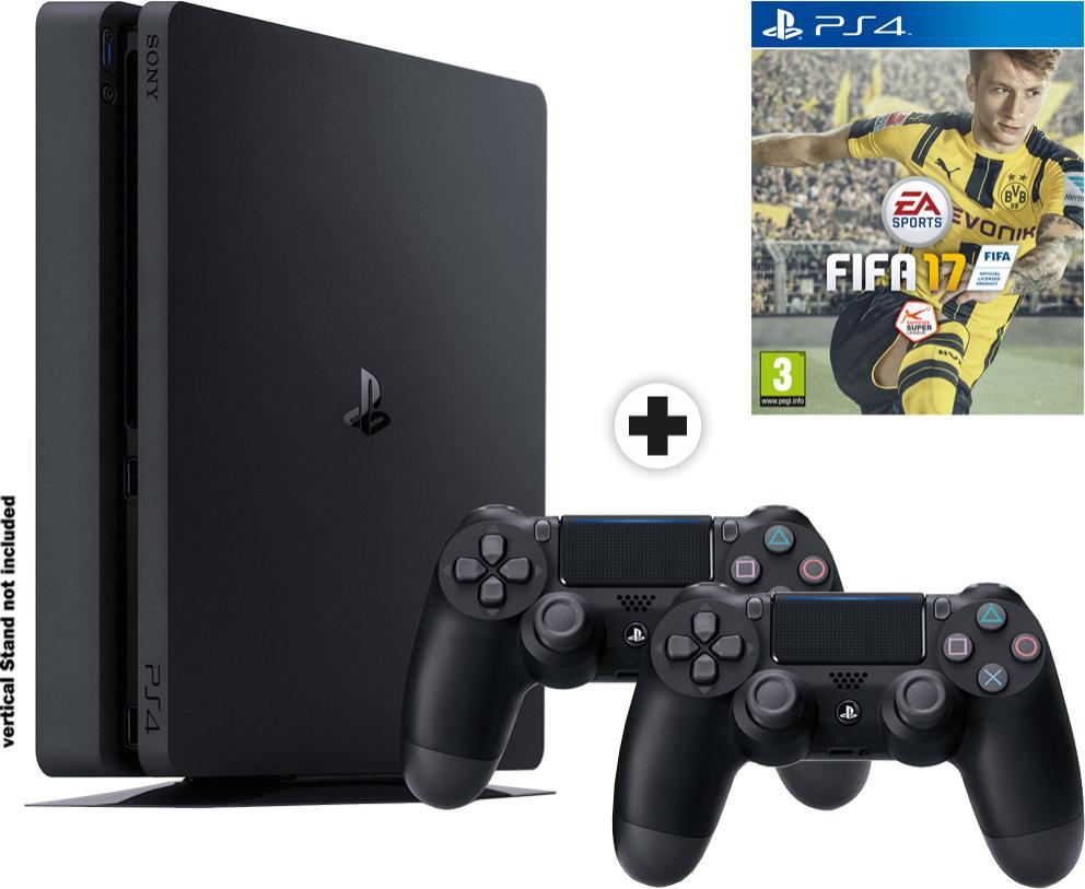 Console Sony PS4 Slim1To + 2ème manette + Jeu Fifa 17
