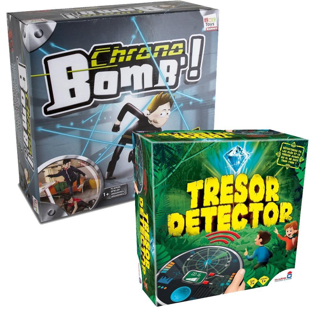Lot de jeux société Dujardin / TF1 - Chrono Bomb' + Trésor Detector (via 12,76€ sur la carte de fidélité + 15€ en bon d'achat + 31.9€ d'ODR)