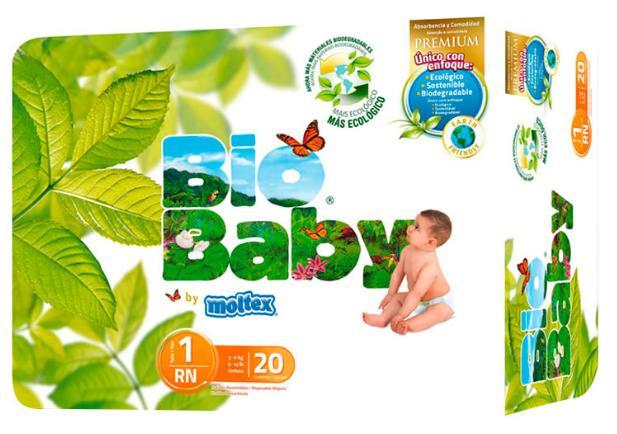 8 paquets de 20 Couches écologiques Bio baby - Taille 1