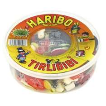 Lot de 2 boîtes de confiseries Haribo Tirlibibi - 1.1 kg