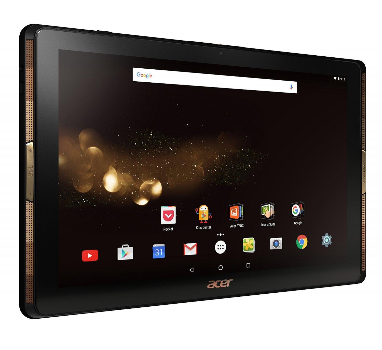 "Tablette 10"" Acer A3-A40 Noir/Or - Full HD, MediaTek Quad-Core, ROM 32 Go, Android 6.0 (via ODR 30€)"
