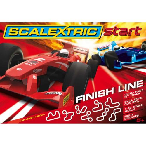 """Coffret Circuit Electrique Scalextric Start """"Finish Line"""" 1/32ème"""