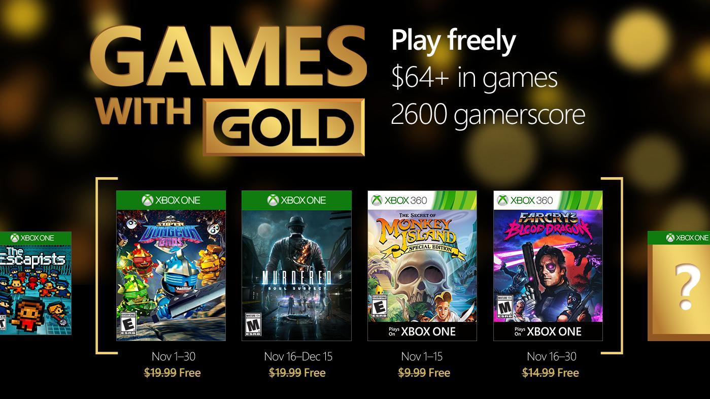 [Membres Gold] Sélection de Jeux gratuits sur Xbox One et Xbox 360 - Ex : Du 16 au 30 novembre : Far Cry 3 Blood Dragon