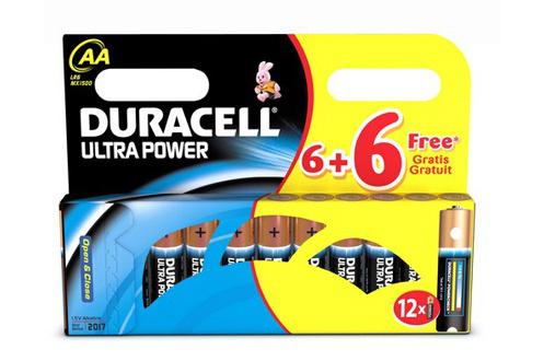 12 piles Duracell Ultra Power LR06