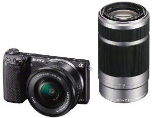 Kit Appareil Photo Hybride Sony NEX-5RYB + Objectifs SEL-1650 & SEL-55210 (Avec ODR de 100€)