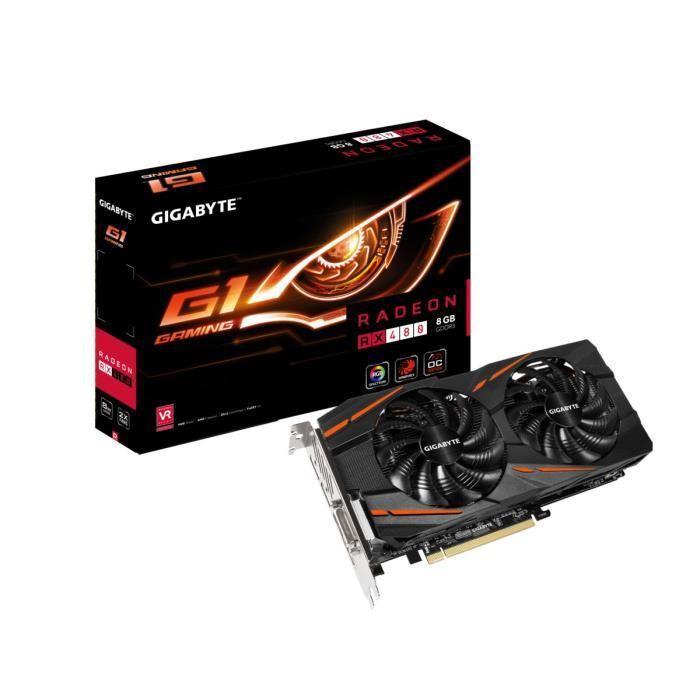 Carte graphique Gigabyte AMD Radeon RX 480 G1 Gaming - 8 Go, GDDR5