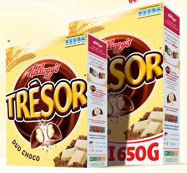 -0.5€ de réduction sur un pack Duo-Choco Trésor de Kellogg's