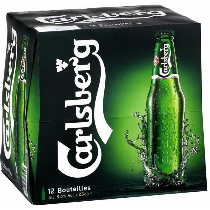 Lot de 2 packs de bières blondes Carlsberg (24x25cl)