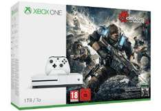 Pack Console Microsoft Xbox One S 1 To + Gears Of War 4 + Forza Horizon3 + 2ème Manette