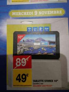 """Tablette 10"""" Storex - 8Go, Android 5.1"""