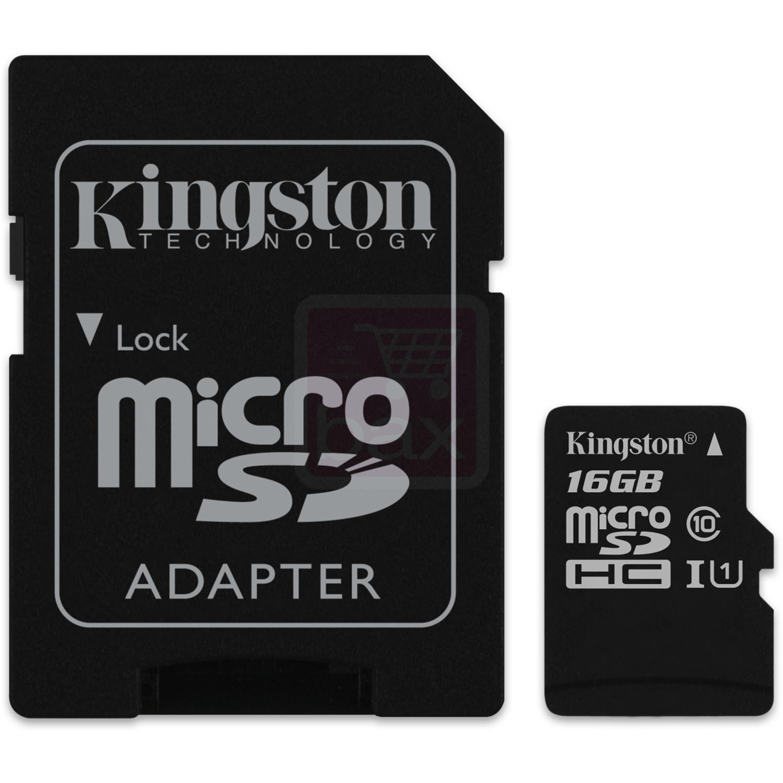 Carte microSDHC Kingston UHS-I Classe 10 - 16 Go + Adaptateur SD