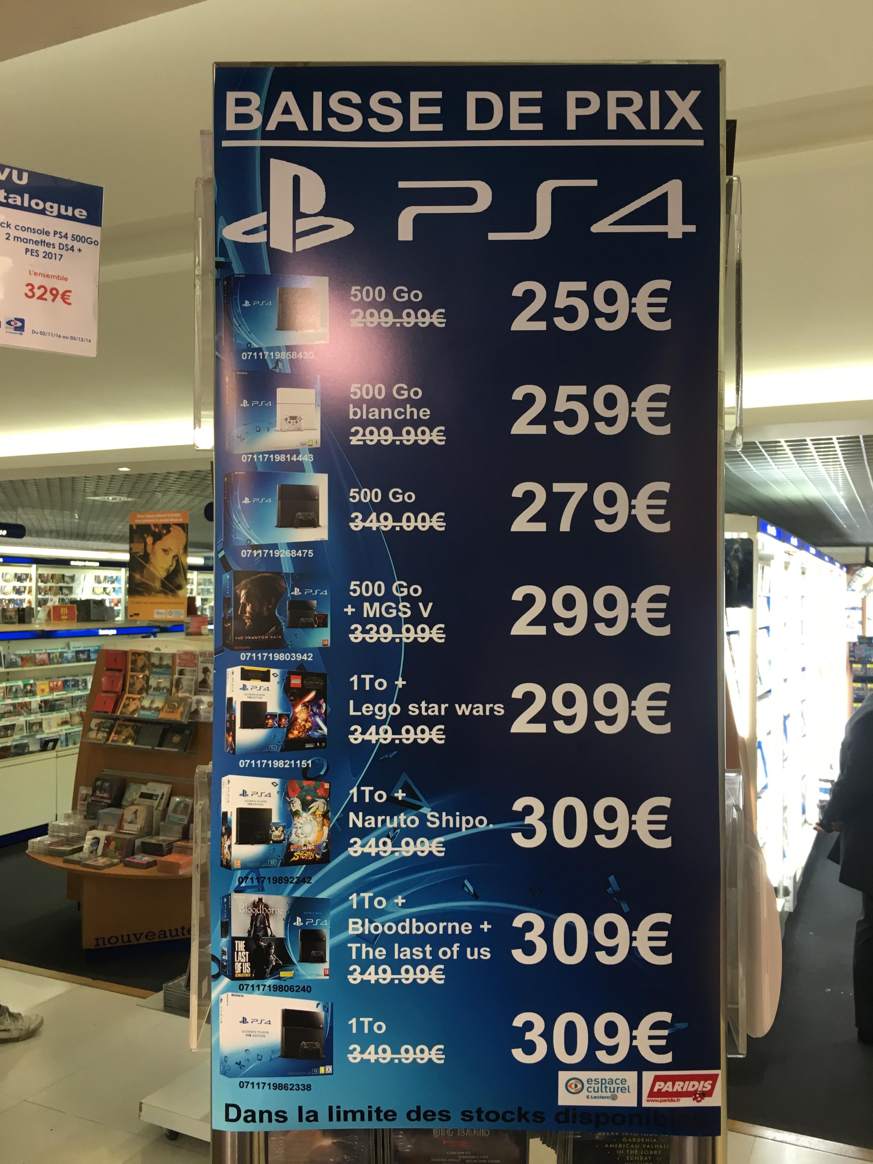 Sélection de consoles PS4 en promo - Ex : Console Sony PS4 - 500 Go