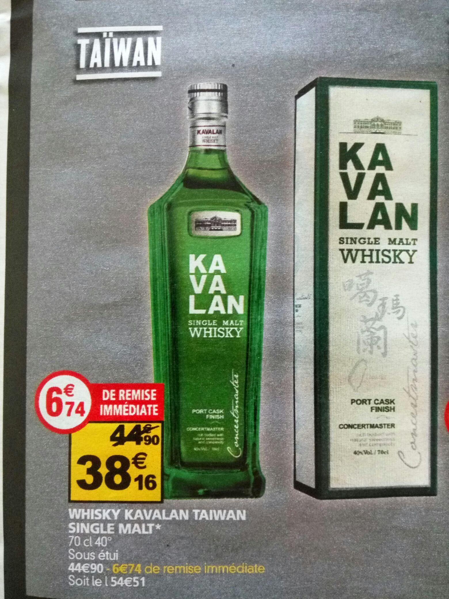 Bouteille de Whisky Kavalan Single Malt (70 cl)