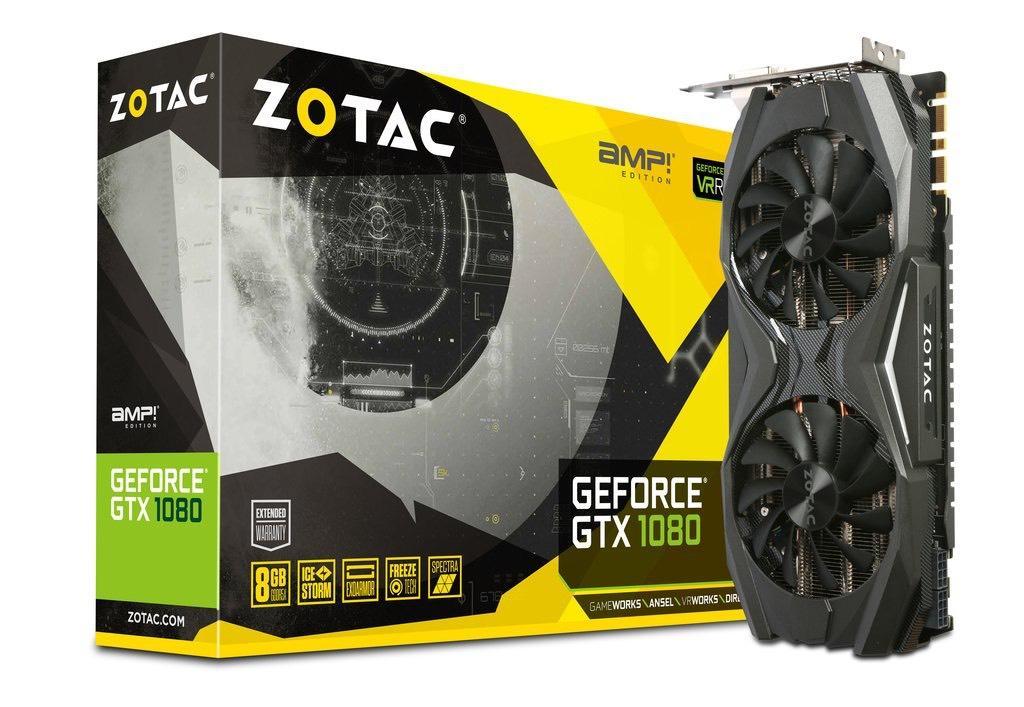Carte graphique Zotac GeForce GTX 1080 AMP Edition  - 8 Go