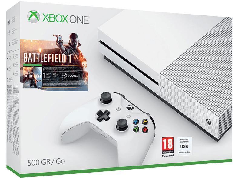 Pack Console Microsoft Xbox One S 500 Go + Battlefield 1 + Call of Duty Infinite Warfare + GTA V