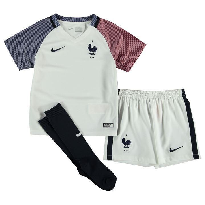 kit enfant maillot, short et chaussettes de football Equipe de France (Taille S)