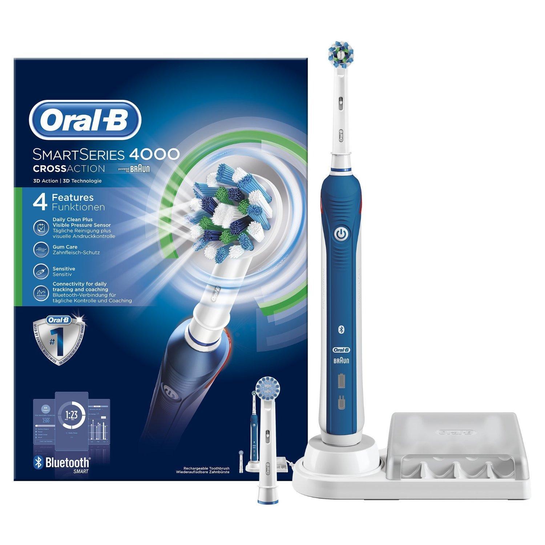 Brosse à Dents Electrique Oral-B Smart Series 4000 CrossAction par Braun (via ODR 30€)