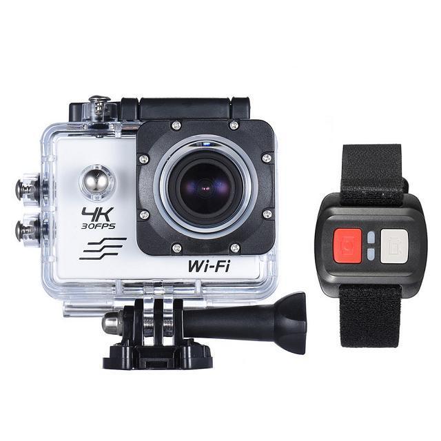 """Caméra Sportive étanche 2.0"""" avec Télécommande - 4K 30fps, WiFi, 16MP, Capteur Sony IMX179 + Accessoires"""